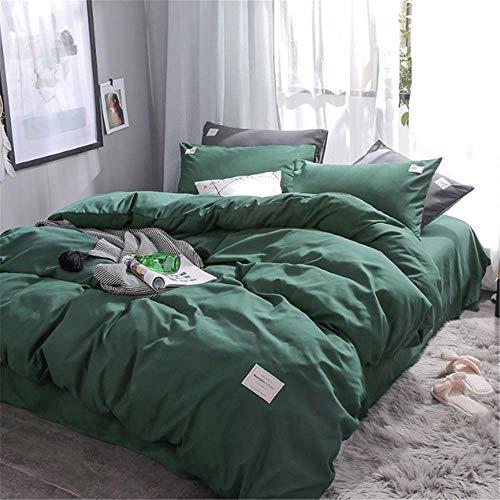 SSHHJ Cotton Home Luxury Bedding Set Soft Pillowcase Duvet Cover Set Queen King Size G 220x240cm -