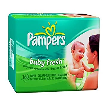 Pampers Baby Wipes Refills - Baby Fresh Scent, 160 Wipes