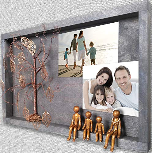 Patriotic 8th 19th Bronze Anniversary Picture Frame Collage for Wall Decoration 8 19 21 Year Wedding Willow Family Tree Gift Wife Husband Men Her Mom Son Mother Personalized Grandparents Gifts