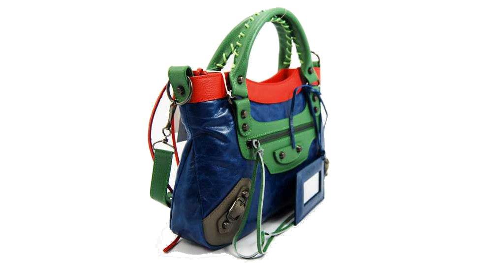 Balenciaga - Bolsa de viaje Azul Bleu Obscur, Rouge Safran, Vert Fonce, Gris Cendre: Amazon.es: Equipaje