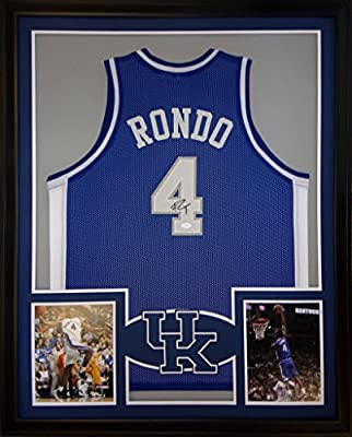Rajon Rondo Framed Jersey Signed JSA COA Autographed Kentucky Celtics