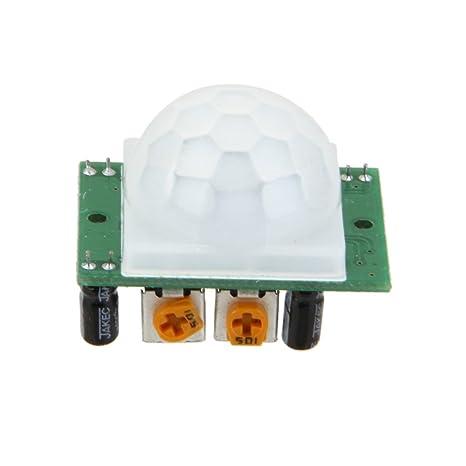 Sharplace Módulo de Detector IR Sensor de Movimiento PIR Infrarrojos Piroeléctrico Dyp-ME003