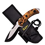 Cheap Elk Ridge ER-537JC-MC ER537JC-Brk Fixed Blade Hunter Jungle Camo