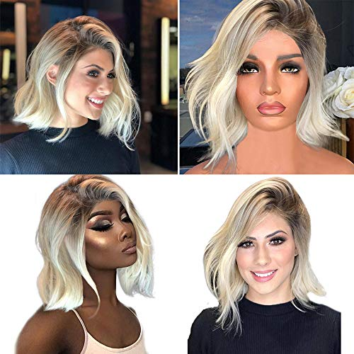 JJLIKER Long Curly Wavy Wigs Women Light Grey Highlights Layered Synthetic Realistic Natural Looking Women Short Wig (Kim Kardashian Red Lace Dress For Sale)