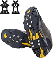 Pozlle Ice Grips,Updated VersionIce & Snow Grips Cleat Over Shoe/Boot,Traction Cleat Rubber Spikes Anti Sl
