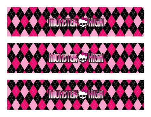 (Monster High edible cake strips topper decorations)