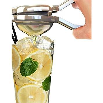 vinallo Pulsar amarillo limón naranja Exprimidor Profesional de acero inoxidable manual exprimidor: Amazon.es: Hogar
