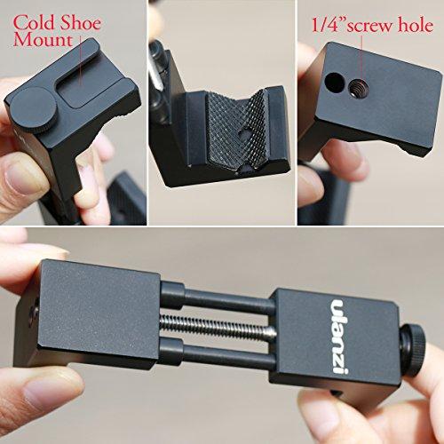 Ulanzi ll065 Metal Phone Tripod Mount with Hot Shoe Mount Iron Man 2 Pro Smartphone Holder Video Rig Tripod Mount Adapter by Ulanzi (Image #2)
