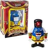 M&M's Limited Edition Nutcracker Sweet Holiday Candy Dispenser, Blue Character with Yellow Holiday Suit