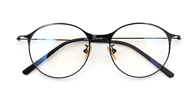 cbf1738e45f Image Unavailable. Image not available for. Color  Slocyclub Women Funky  Round Slender Metal Frame Eyeglasses