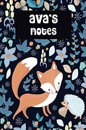 Ava's Notes: Winter Fox Personalised College Ruled ()