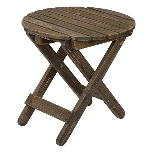 Table Rustic Cedar Round - Shine Company Rustic Round Folding Table, Barnwood