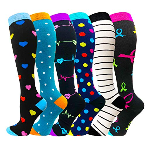 (Compression Socks (20-25mmHg) For Women&Men - Best for Running,Travel,Cycling,Pregnant)