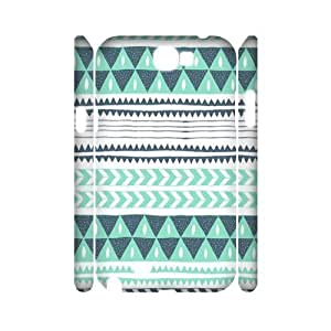 Green Tribal Pattern 3D-Printed ZLB556931 Unique Design 3D Phone Case for Samsung Galaxy Note 2 N7100