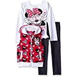 Disney Baby Girls' Minnie Mouse Vest and Pant Set, Pink, 12 Months