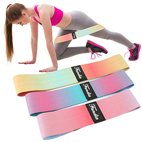 Fundia Resistance Bands Loop for Legs, Exercise Bands Fitness Workout Pilates Band for Yoga Sports Hip Stretch Gym Equipment Elastic Leg Bands Set for Women Men Muscle Training