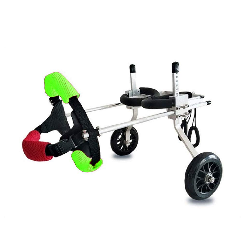 GREEN XXS GREEN XXS AnnCWLY Pet Wheelchair Adjustable Size For Dog Hind Limb Training Auxiliary Scooter, A Variety Of Models Suitable For 2-50KG Pet Wear (color   GREEN, Size   XXS)