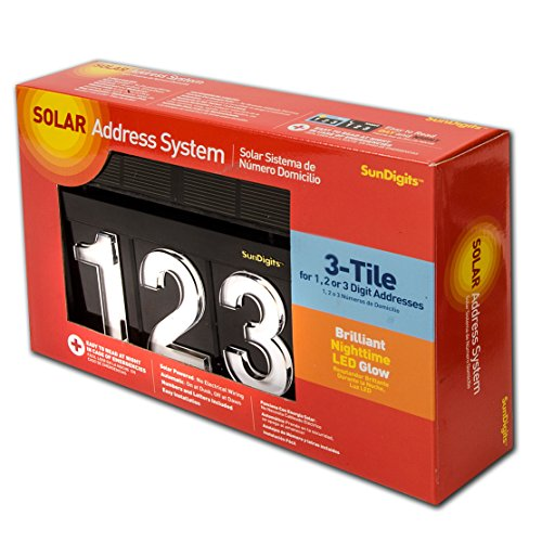 (Sundigits 3 Digit Solar Led House Numbers)
