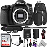 Canon EOS 80D DSLR Camera Body w/Advanced Photo and Travel Bundle