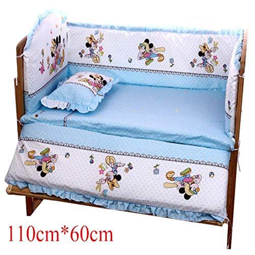 - 5Pcs Set Cartoon Animated Crib Bed Bumper for Newborns 100% Cotton Comfortabl