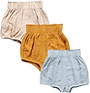 LOOLY Unisex Baby Girls Boys Cotton Linen Blend Bloomer Shorts