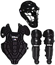 Wilson Wta368400sm Youth Ez Gear Catcher's Kit, Smallmedium5-7 Years, Black