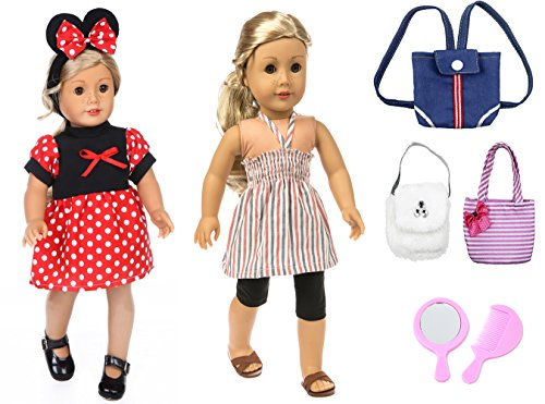 DENA Toys 18 inch Doll Clothes Wardrobe & Accessories Play Set Fit American Girl