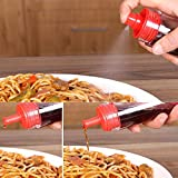 Westspark Soy Sauce Sprayer Cooking, Dual Use Heat Resistant BBQ Grill Basting Barbecue Pancake Cooking Marinate Oil Pastry Silicone (Red Oil Sprayer)