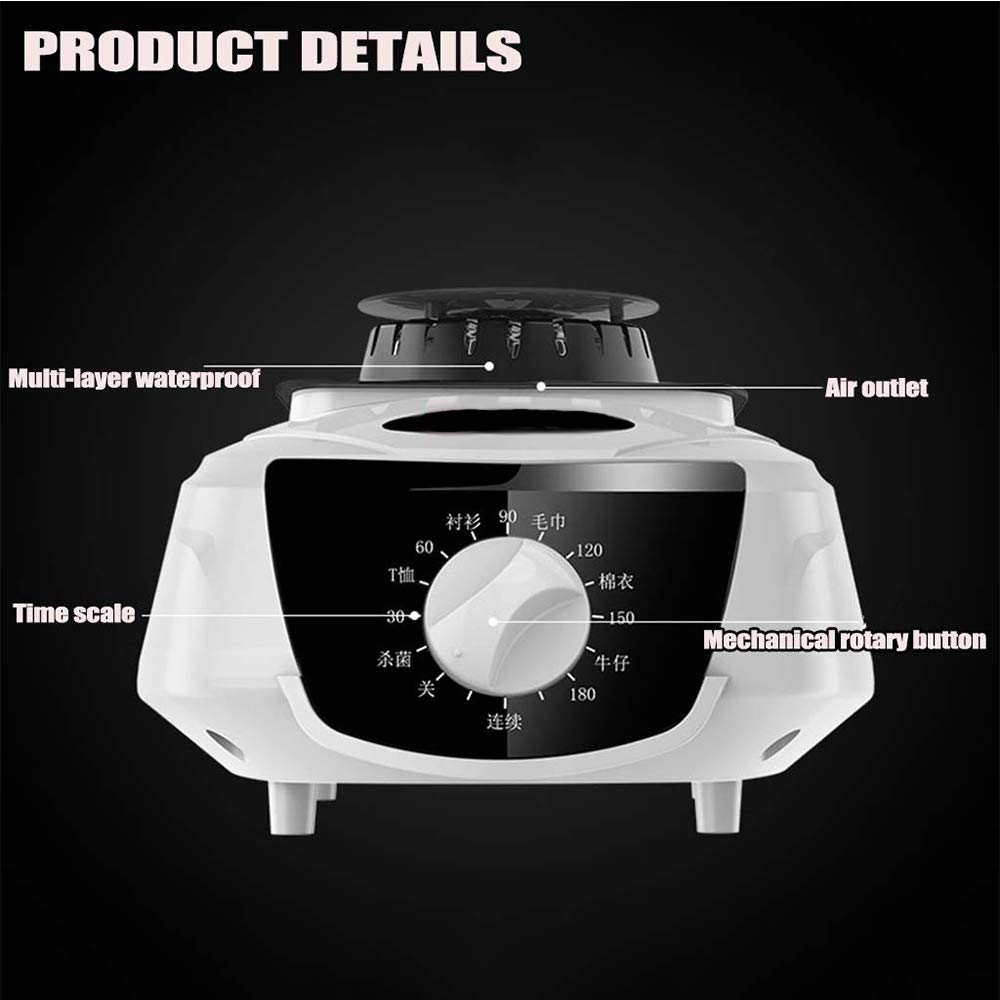 Clothes Dryer Electric Portable Indoors Hot Air Heater Laundry Clothing Dryers Warmer Automatic Timer 180min with Mechanical Control for Apartment Houses,Green