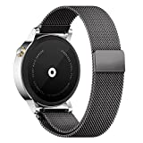 18MM 20MM 22MM Watch Bands Pinhen Milanese Loop Magnet Mesh Stainless Steel Watch Band For Huawei LG Withings Activité Samsung Moto 360 Smart Watch (18MM Black)