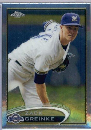 2012 Topps Chrome Baseball #76 Zack Greinke Milwaukee Brewers