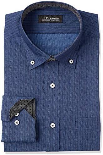 UP renoma・形態安定加工・長袖・ワイシャツ・カラーバリエーション8柄 YED520 メンズ