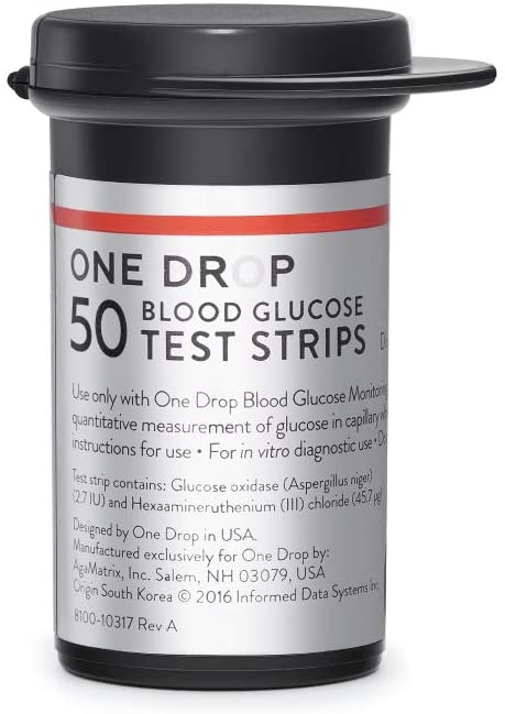 One Drop Glucose Test Strips (50 Count)—Get a Reading in Under 5 Seconds