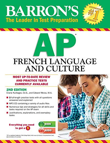 Barron's AP French Language and Culture with MP3 CD (Barron's AP French (W/CD)) by Barrons Test Prep