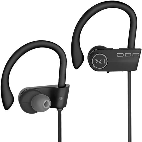 Amazon Com Bluetooth Headphones Best Wireless Sports Earphones Mic Waterproof Hd Sweatproof In Ear Earbuds For Gym Running Workout Noise Cancelling Headsets Ddc