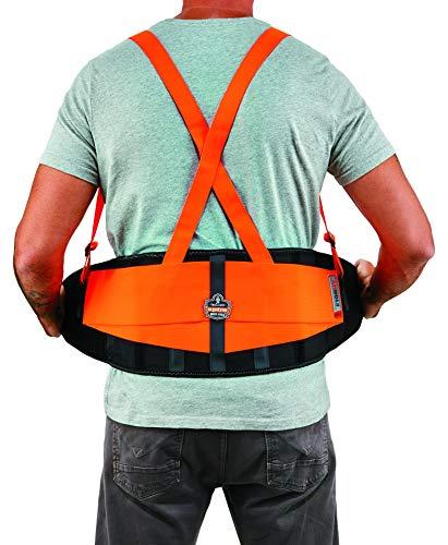 Ergodyne ProFlex 100HV Economy Hi-Vis Back Support Belt, Large, Orange by Ergodyne (Image #4)