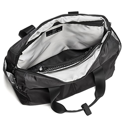 a183cc3101 Amazon.com   LIVE WELL 360 Core Fitness Bag (Onyx Black)   Sports   Outdoors