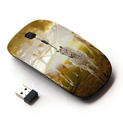 KawaiiMouse [ Optical 2.4G Wireless Mouse ] Clouds Horses Nature Sunset Mustang