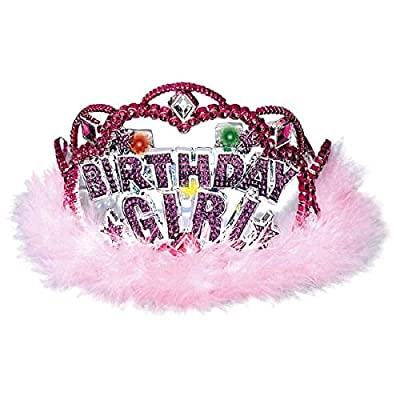 """Birthday Girl"""" Flashing Lights Tiara: Toys & Games,"""