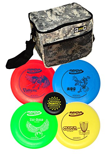 Innova Disc Golf Set with 4 Discs Starter Disc Golf Bag - DX Distance Driver, Fairway Driver, Mid-Range, Putter and Mini Marker Disc