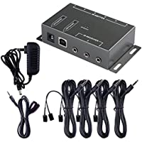 IR Repeater, Bluesky Infrared (IR) Remote Control Repeater Kit Remote Control Extender, Control Hidden A/V Devices for TV and Home Entertainment Theater