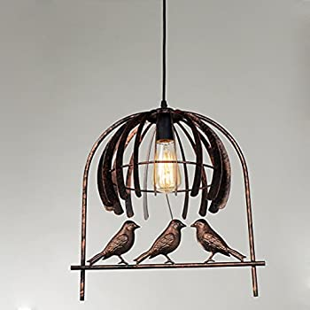 Vintage Ceiling Pendant Light Industrial Edison Wrought Iron Bird Cage Chandelier FCC Certified Antique Rustic Style & Industrial Pendant Light Bird Cage Ceiling Lamp Edison Wrought Iron ...