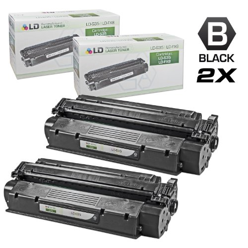 LD Canon Remanufactured S35 (7833A001AA) Set of 2 Black Laser Toner Cartridges for use in the ICD-340, ImageClass D320, D340, D383 (Remanufactured Black Drum Cartridge)