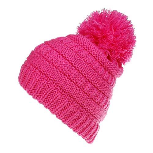(Little Kids Winter Warm Hat,Jchen(TM) Fashion Baby Kids Little Boy Girl Venonat Knitted Woolen Headgear Hat Cap (Hot Pink))