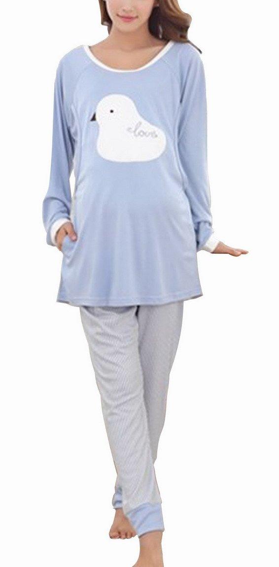 Niyatree Women Fashion Maternity Pregnancy Long Sleeve Bathing Pajama Suit