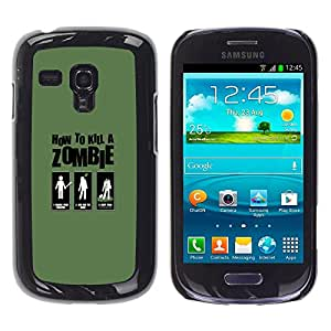 LECELL--Funda protectora / Cubierta / Piel For Samsung Galaxy S3 MINI 8190 -- Zombie Killing Guía divertido --