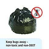Stout by Envision P4045K20 Insect-Repellent Trash Garbage Bags, 45gal, 2mil, 40 x 45, Black (Box of 65)