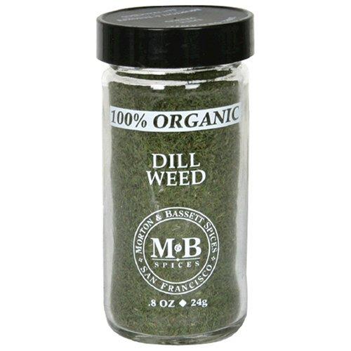 Morton & Bassett Organic Dill Weed, .8-Ounce Jars (Pack of 3)