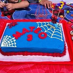 Spiderman 346004 - Vela cumpleaños en blister, 9 centímetros ...