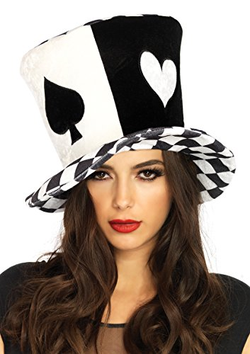 Leg Avenue Women's Oversized Mad Hatter Hat, Black/White, One Sizes Fit Most